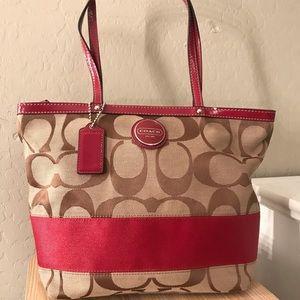 Red/Tan Coach purse